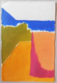 'Afspiegeling' 2013 - acryl op papier, 12 x 8 cm