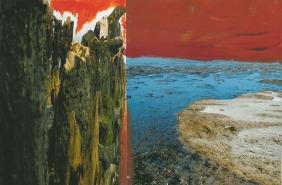 'Ambivalent' 2013 - acryl op fotocollage, 12,7 x 19
