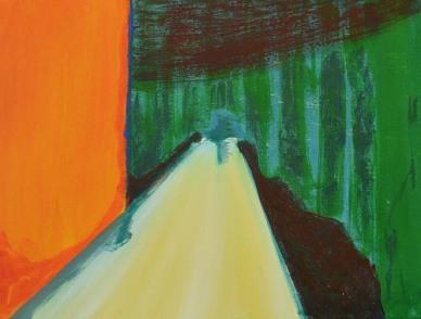 'Bos' 2012 - acryl op doek, 30 x 40 cm
