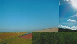 'Contrei' 2013 - acryl op fotocollage, 12,6 x 21,7 cm