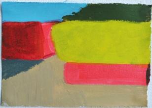 'Demarcatie' 2013 - acryl op papier