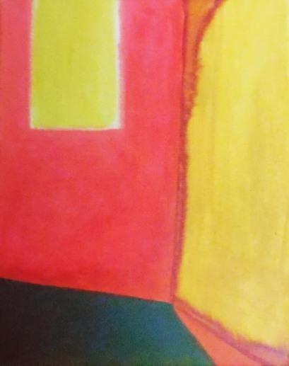 'Doorkijk' 2012 - acryl op doek, 30 x 40 cm