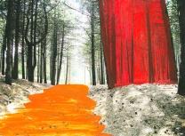 'Duin' 2013 - acryl op print