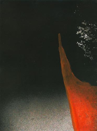 'Spoor' 2013 – acryl op beschilderde print