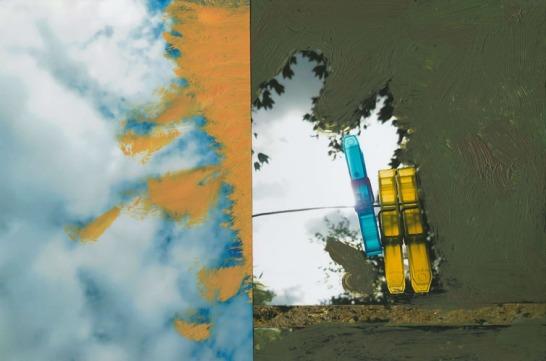 'Emfase' 2013 - acryl op fotocollage,12,6 x 19 cm