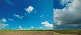 'Grenslinie' 2013 - acryl op fotocollage