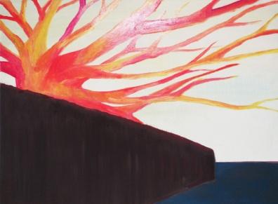 'Herbeleven' 2011 - acryl en medium op doek, 60 x 80 cm