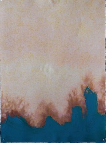 'Lage bomen' 2013 - acryl op print, 14 x 10 cm