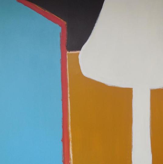 'Lamp' 2012 - acryl op doek,130 x 130 cm