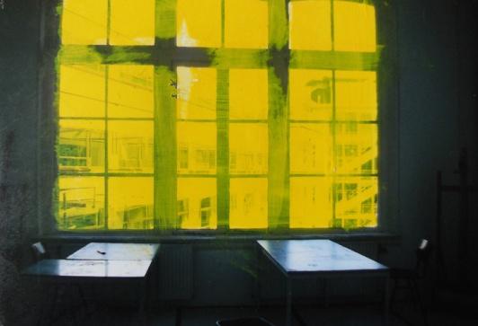 'Lichting' 2013 - acryl op foto, 9 x 12,5 cm