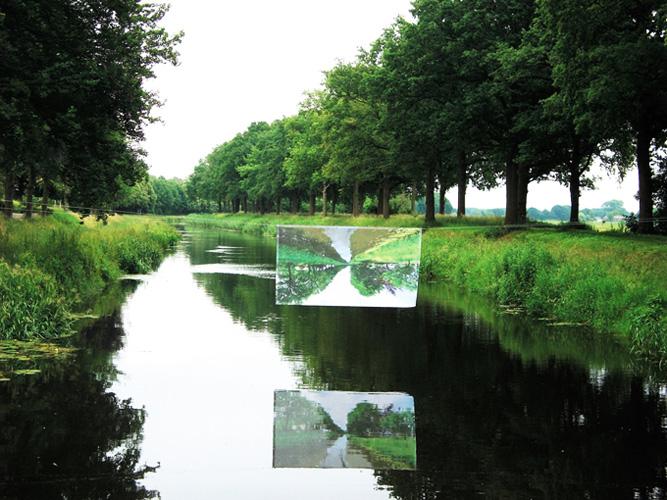 'Luchtspiegeling'2012 - installatie