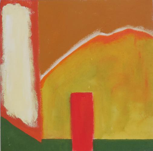 'Oude werf' 2012 - acryl op doek, 30 x 30