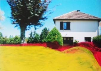 'Passeren' 2013 - acryl op foto, 9 x 12,5 cm