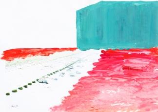 'Pier' 2013 - acryl op print