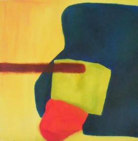 'Plek' 2012 - acryl op doek, 40 x 40 cm