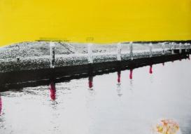 'Schijn' 2013 - acryl op foto, 9 x 12 cm