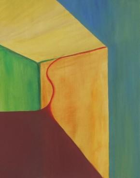 'TochtI' 2011 - ei tempera op doek, 50 x 40 cm