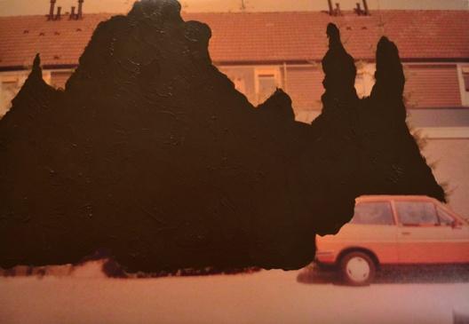 'Voorbij' 2012 - acryl op foto, 60 x 85 cm
