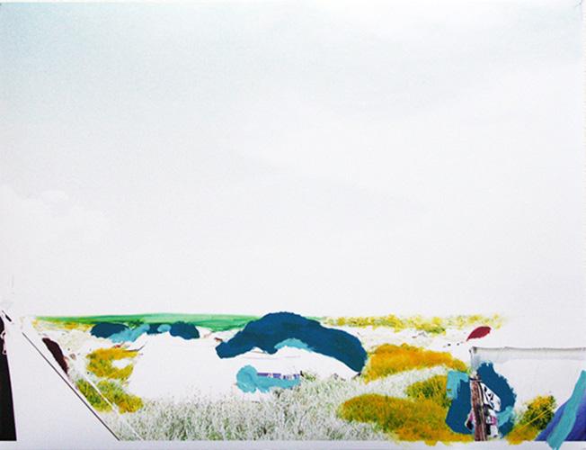 'Vrij Zicht' 2013 - acryl op foto, 594 x 820 cm