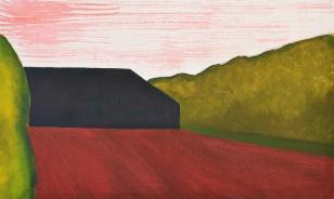 'Wezel' 2012 - acryl en olieverf op doek, 35 x 58 cm