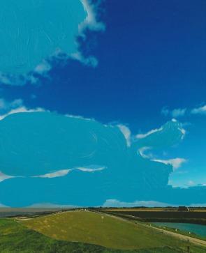 'Zwerk' 2013 - acryl op fotocollage