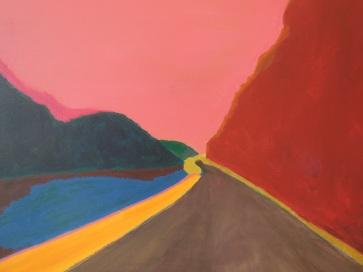 De weg naar het noorden, 2014, acryl op doek