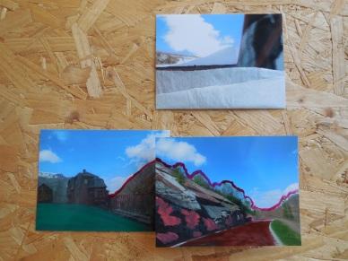serie Noorwegen, 2014, nagellak en vloeipapier op foto