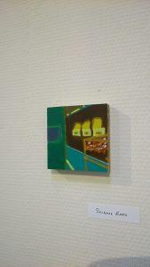 Werkjes van 10 bij 10 cm werden tentoongesteld ter ere van het lustrum van Galerie 10 bij 10 te Nieuwolda.